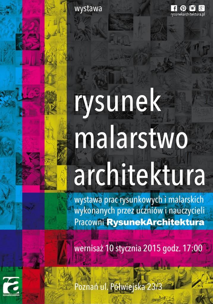 Plakat Wystawy RYSUNEK MALARSTWO ARCHITEKTURA